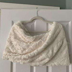 Faux Fur Wedding twist shawl